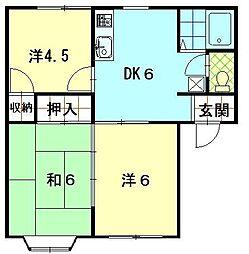 サンハイツA1 C棟[102号室]の間取り