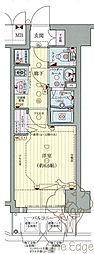 プレサンス梅田II 6階1Kの間取り