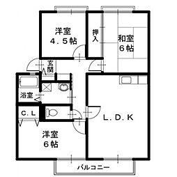 フローラルYou C棟[1階]の間取り