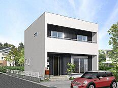 建物プラン施工例(2階建て外観イメージパース)