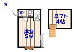 ドールハウス[B201号室]の間取り