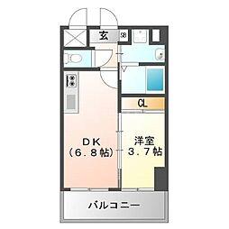 ラ・コルテ大濠[4階]の間取り