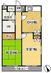 アルス東戸塚[1階]の間取り