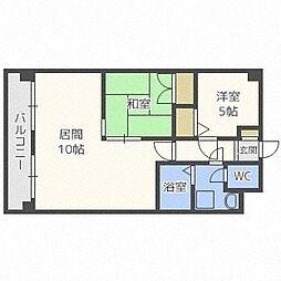 第88松井ビル[603号室]の間取り