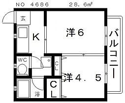 サンヴィラ上之宮[3階]の間取り