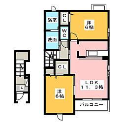 エテルノーレB[2階]の間取り