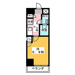 エルザビル名古屋駅前[2階]の間取り