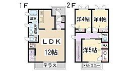 [テラスハウス] 兵庫県伊丹市森本6丁目 の賃貸【/】の間取り