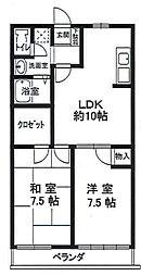菊水ハイツ2番館[1階]の間取り