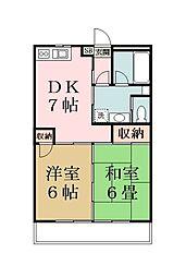 リキマンション[203号室]の間取り