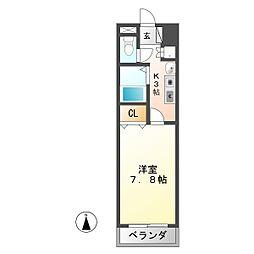 パークサイド桃山[3階]の間取り