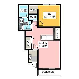 サニー レジデンスA[1階]の間取り