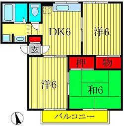 サングレース吉野[2階]の間取り