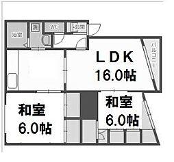 北海道札幌市西区平和一条6丁目の賃貸マンションの間取り