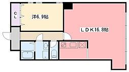 コロナール甲子園[104号室]の間取り