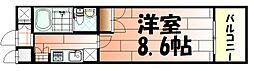 No65クロッシングタワ-ORIENT BLD[4階]の間取り
