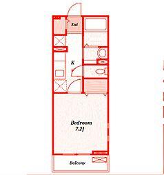 タンブルフィーユ[2階]の間取り