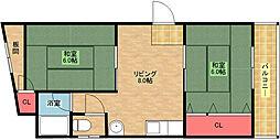 第2大西マンション[2階]の間取り