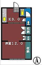 薬円台ハイツ[202号室]の間取り