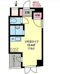 神奈川県横浜市緑区長津田5丁目の賃貸マンションの間取り