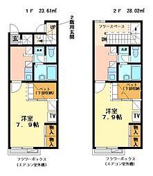 兵庫県神戸市北区緑町7丁目の賃貸アパートの間取り