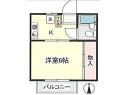 プラム井口[1階]の間取り