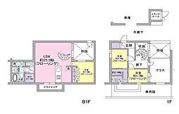 神奈川県横浜市都筑区東山田1丁目の賃貸マンションの間取り