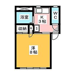 ハマシン狐ヶ崎マンション B[1階]の間取り