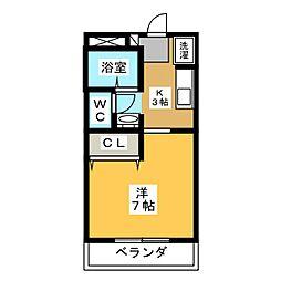 コンフォール日新[2階]の間取り