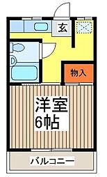 第一志賀荘[101号室]の間取り