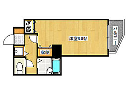 兵庫県神戸市灘区山田町3丁目の賃貸マンションの間取り