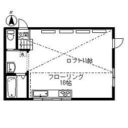 バンダーブルーマンション[1階]の間取り