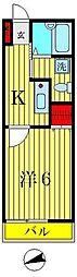 トラス青戸[2階]の間取り