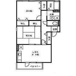 アポロハイツIV[2階]の間取り