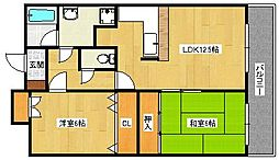 ヒュース泉大津[3階]の間取り