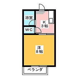 メゾンミカタB[2階]の間取り