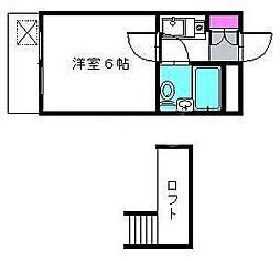 千葉県八千代市下市場1丁目の賃貸アパートの間取り