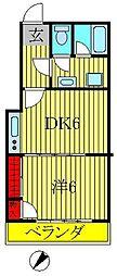 クレスマンション[303号室]の間取り
