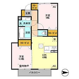 (仮)D-room高井町[105号室]の間取り