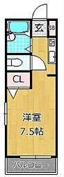 ソラーレ中宮[1階]の間取り