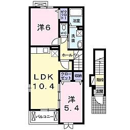 ノーブルガーデン[2階]の間取り
