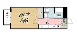 千葉県千葉市中央区千葉寺町の賃貸アパートの間取り