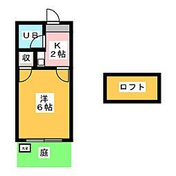 レオパレス岩塚第4[1階]の間取り