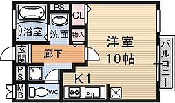 シャルト大宅[203号室号室]の間取り