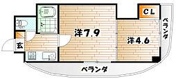 ロイヤルマキシム[5階]の間取り