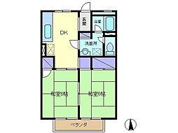 エモリコーポ[2階]の間取り