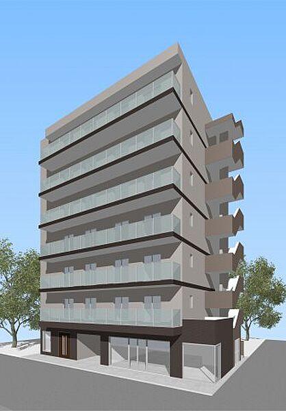 (仮称)西区平沼共同住宅[5階]の外観