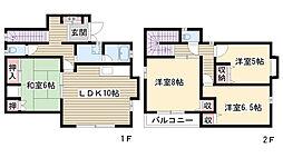 [一戸建] 愛知県名古屋市名東区社が丘2丁目 の賃貸【/】の間取り