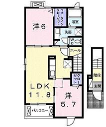 ノイエツァイト VA[2階]の間取り
