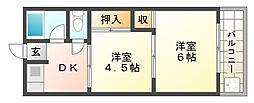 協同マンション[4階]の間取り